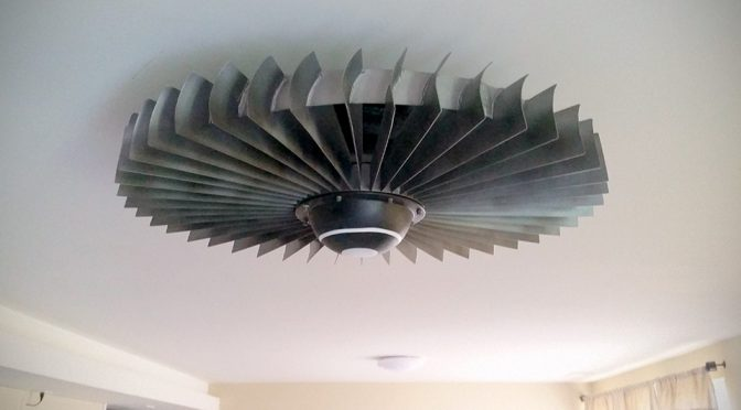 Seriously, Who Doesn't Want A Jet Engine Fan As Their Ceiling Fan?
