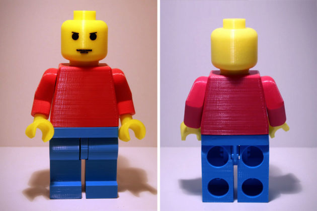 Jumbo 3D-printed LEGO Minifig by MLARTS Vinyl Graphics