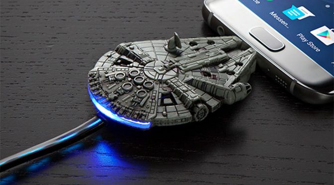Millennium Falcon Micro USB Charging Cable: Charging Turns Cool