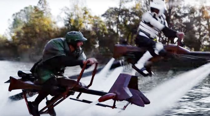 Watch <em>Star Wars</em> Speeder Bike Chase Played Out In Real Life With Jetovators