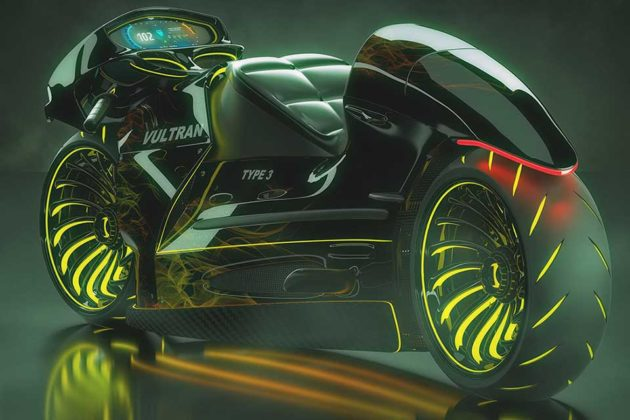Vultran Type 3 Concept Electric Motorcycle by Lee Rosario