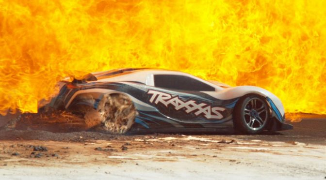 Watch The Beauty And Destruction Of A 100 MPH RC Car In Slow Motion