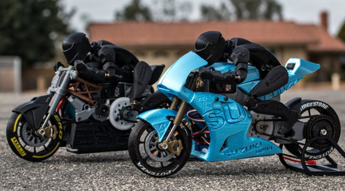 Man Creates Working 3D Printed RC Motorcycle With Moving Rider