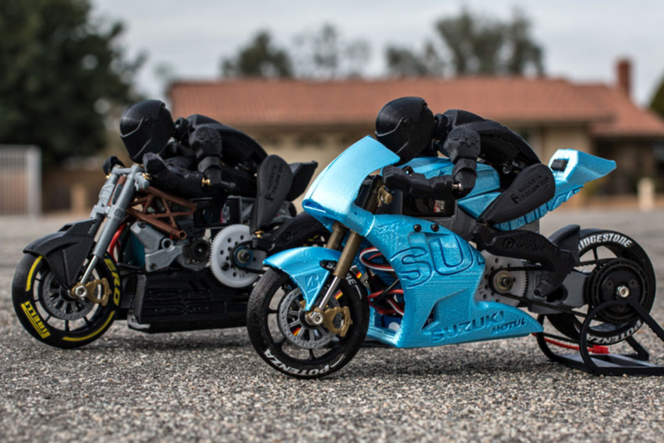 Man Creates Working 3d Printed Rc Motorcycle With Moving