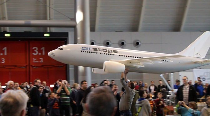 Enormous 16-Foot Wingspan RC Airbus Is The Coolest Thing To Happen Indoor