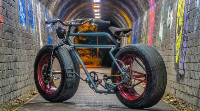 Custom Bike With Real Car Tires Is What <em>Dark Knight</em>'s Bicycle Would Look Like