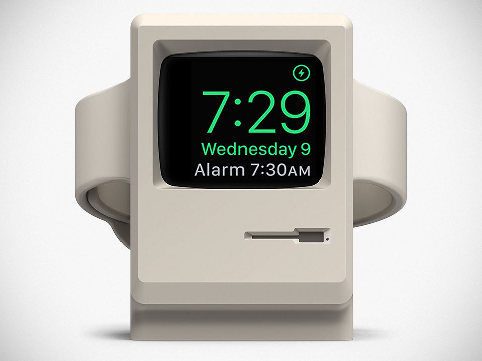 Elago W3 'Macintosh 128K' Stand for Apple Watch 1 & 2