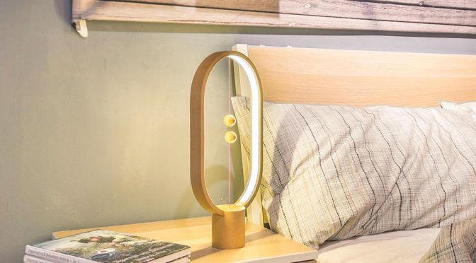 Heng Balance Lamp Has Magnet-embedded Suspending Balls As Switch