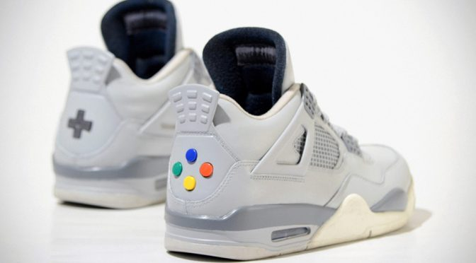 "Freaky Sneaks ""Super Nintendo"" Shoes Have Real Controller Buttons!"