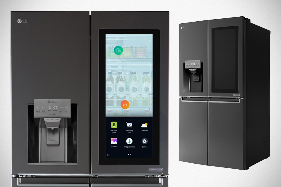 lg has a fridge that lets see what s inside without opening the door mikeshouts. Black Bedroom Furniture Sets. Home Design Ideas