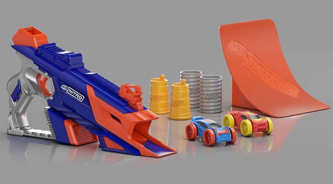NERF Nitro Blaster With Launch-able Foam Vehicles