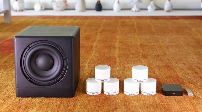 This is ONEmicro, The World's Only True Wireless Surround