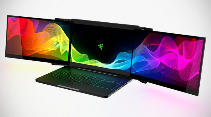 Crazy Concept Gaming Laptop From Razer Packs Three 4K Monitors!