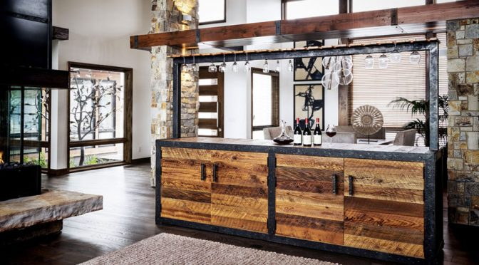 Wine Cellar/Bar Made Of 100-Year-Old Barn Wood Is A Sight To Behold