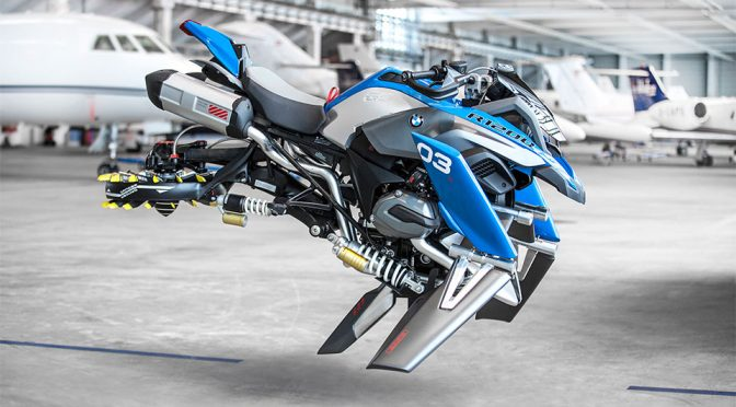 We Want This Life-size BMW Motorrad LEGO Technic Hover Ride So Bad!