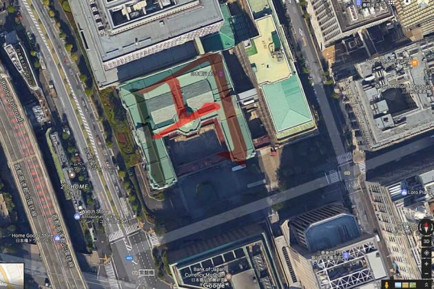 Bank of Japan Google Earth View