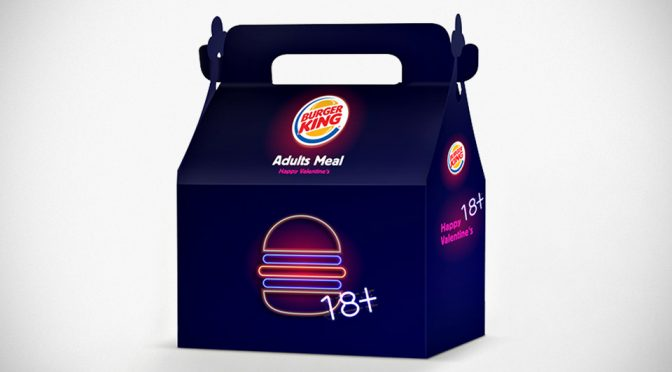 Burger King Israel Adults Meal for Valentine's Day