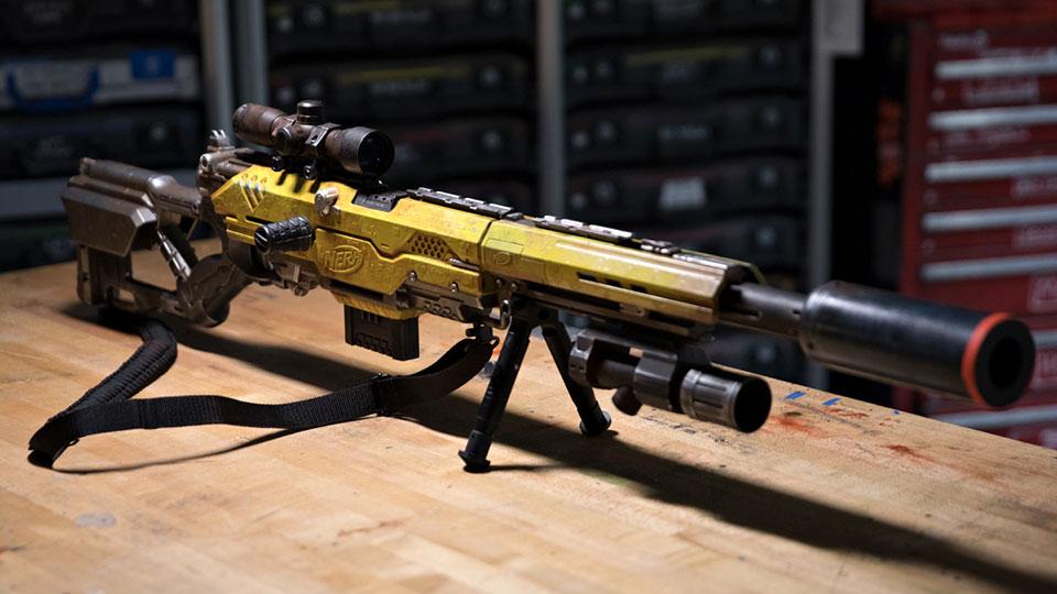 Adam Savage S Custom Nerf Rifle Is Full Of Sci Fi