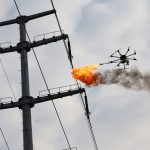This Is How You Get Rid Of Trash On Power Lines: Burn'em Up With A Drone