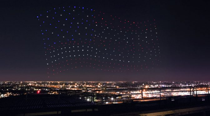 Intel Shooting Star Drones Light Up Lady Gaga's Show At Super Bowl