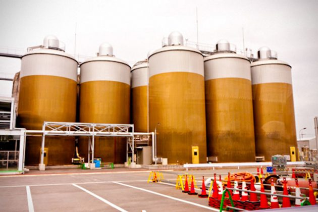 Kirin Beer Factory's Tanks in Nagoya