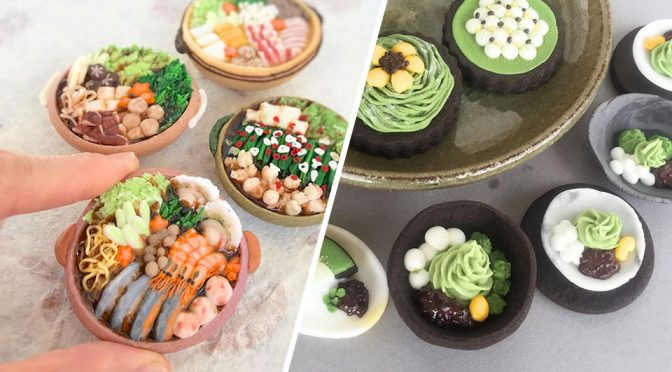 Miniature Food Set Cookies by Chikoto Kawakami