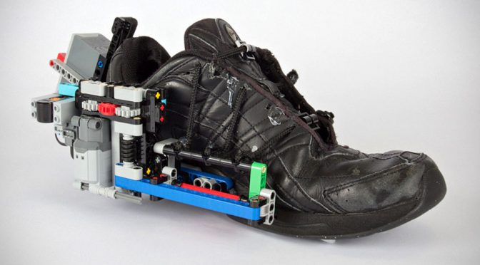 Industrial Designer Turns Regular Shoe Into A Self-Lacing Shoe With LEGO