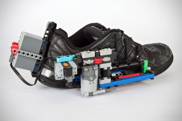 Self-Lacing Shoe Powered by LEGO by Vimal Patel