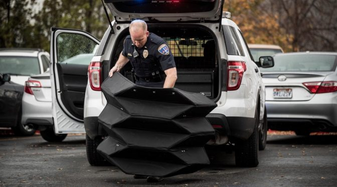 BYU Developed An Origami-style Ballistic Barrier That Deploys In 5s
