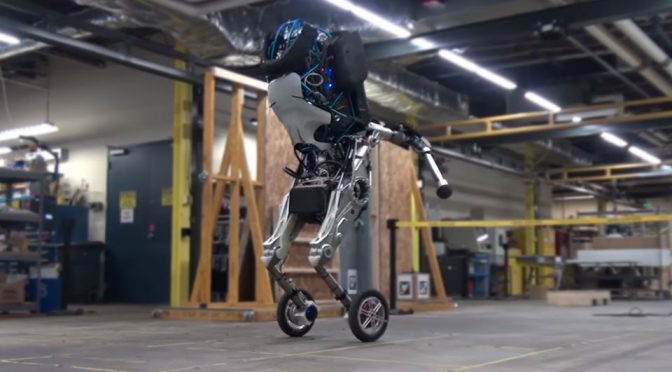 Official Footage Of Boston Dynamics' New Wheeled Biped Robot, Handle