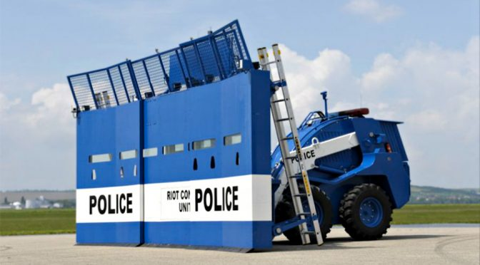 This Armored Riot Control Vehicle From Europe Is Futuristically Dystopia