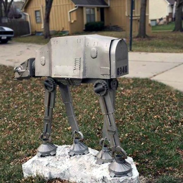 Custom Star Wars Imperial AT-AT Mailbox