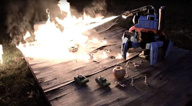 RC Hexapod With Thomas The Train That Spews Flames Is Creepy As Hell