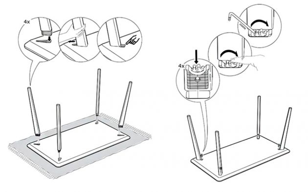 Ikea Wedge Dowel System Enables Tool-less Assembly
