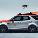 Red Cross Land Rover Has A Drone That Can Land Even Vehicle Is Moving