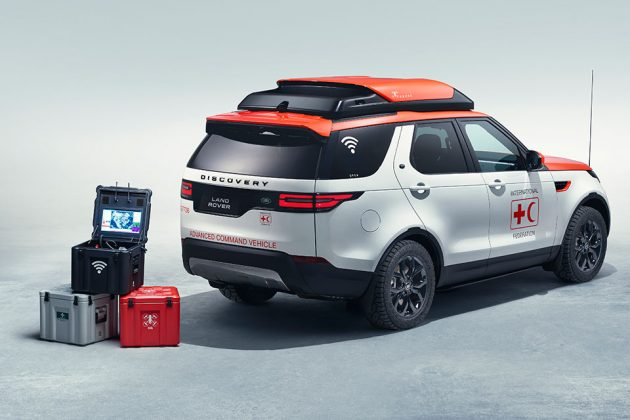 Land Rover Discovery with World's First Drone Technology