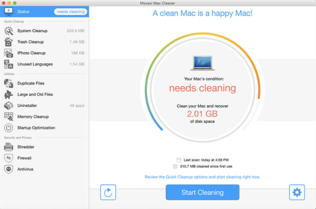 Simple Method of Cleaning a Mac with Movavi Mac Cleaner [Review]