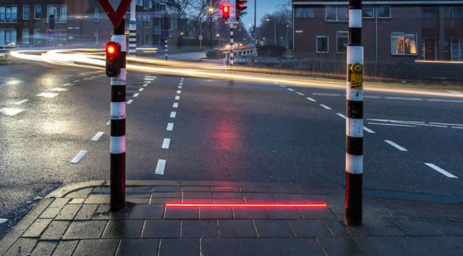 This Dutch Town Has Traffic Light On The Ground Cos' Folks Won't Look Up