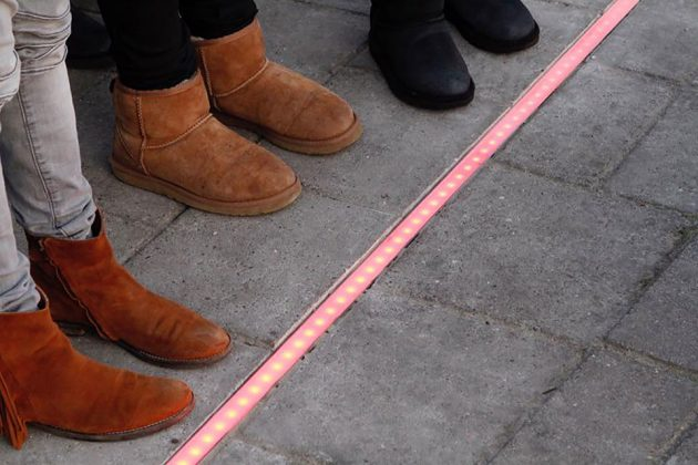 Traffic Light on the floor by HIG Traffic Systems