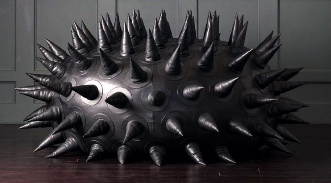 Spiky Leather Urchin Bean Bag Has A Price As Impressive It's Aesthetic