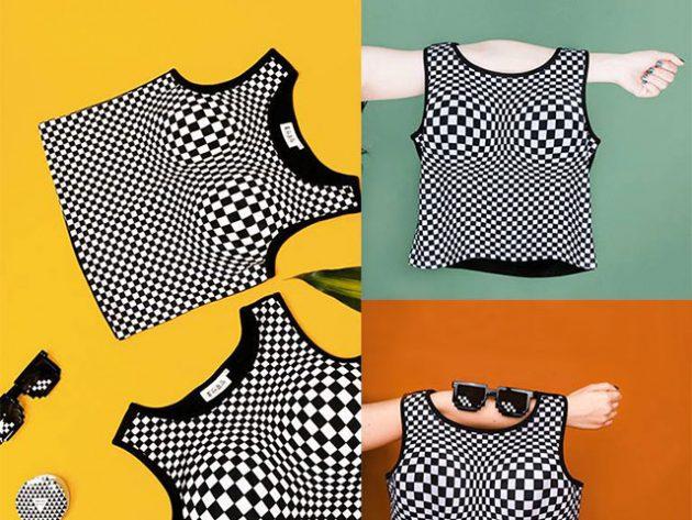 3D Illusional Blouse Make Boobs Look Bigger