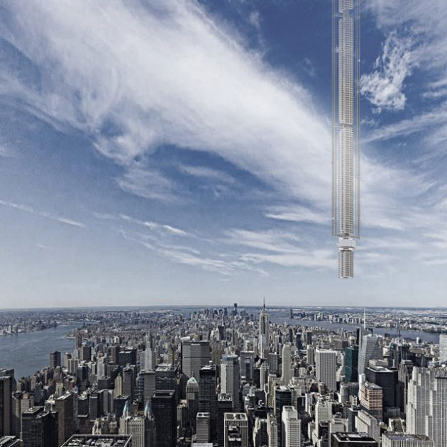 Analemma Tower Suspended Tower by Clouds Architecture Office