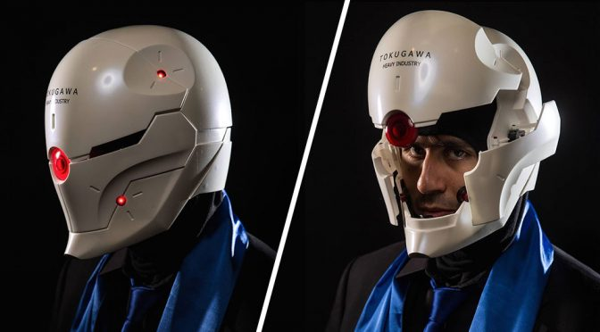 Animatronic Gray Fox Helmet by Diego Valdes