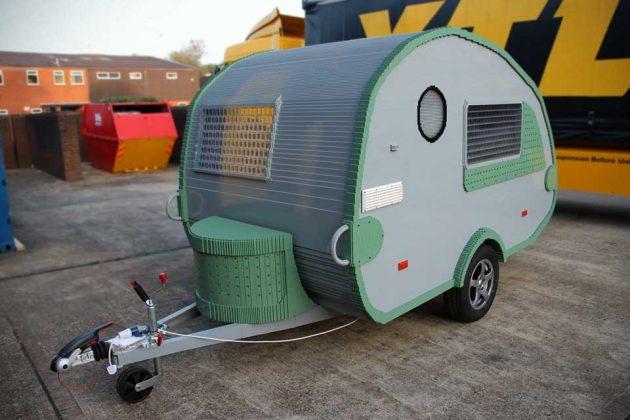 Custom Life-size Functional LEGO Brick Caravan by Bright Bricks