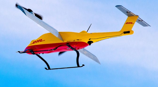 DHL's Third Parcelcopter Is Tilt-rotor, Docks At Special Packstations