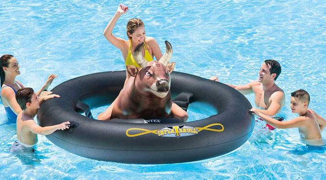 Intex's New Inflatable Bull Lets You Do Rodeo On Water, Friends Not Included