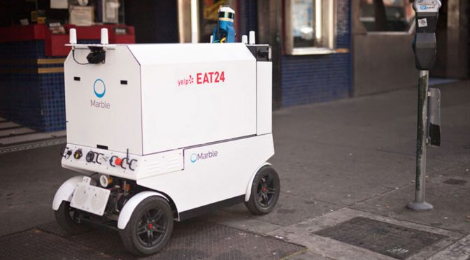 Marble's Delivery Robots Started Delivering Food On The Streets Of SF