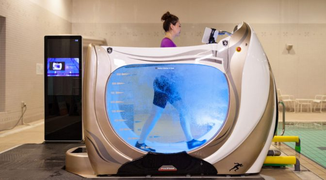Water Treadmill Reduces Jogging Impact, Can Use For Injury Therapy Too