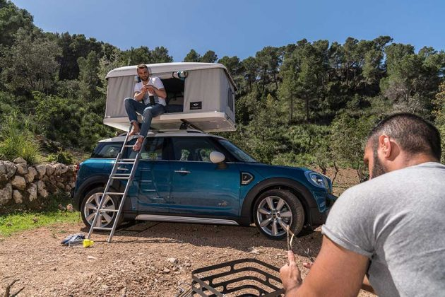 Autohome AirTop Roof Tent for MINI Countryman & MINI Wants You Camp With MINI Countryman With This Roof Tent ...