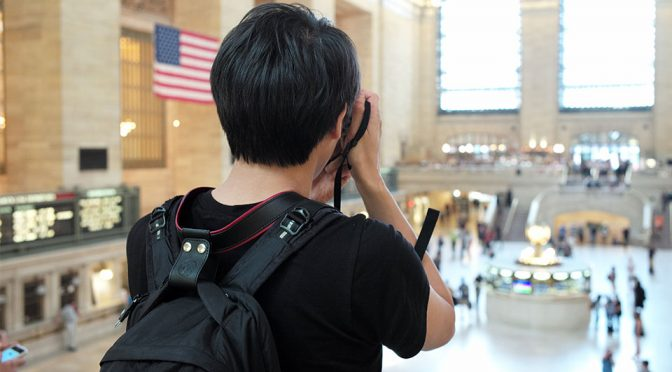 Camera Lift-Strap by Ponte Leather Co. For Travelers